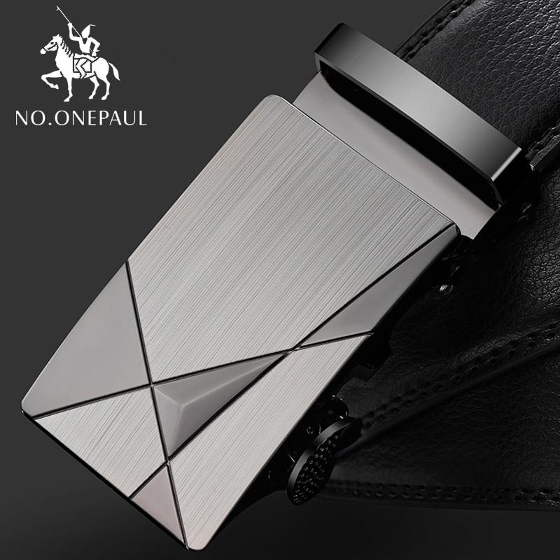 NO.ONEPAUL Trap male automatic buckle   belts   for men authentic girdle trend men's   belts   ceinture Fashion designer fashion leather