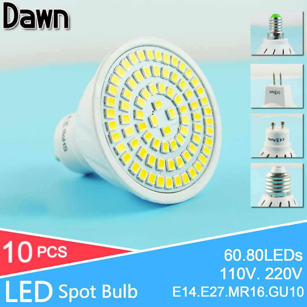 10Pcs LED Bulb E27 E14 GU10 MR16 LED Lamp LED Spotlight 6W 8W Spot Light GU5.3 110V 220V Bombillas Lampada Lampara Ampoule LED a bright e27 e14 mr16 gu10 led lamp 5w 6w 8w led spotlight bombillas gu5 3 spot light lampada led bulb 110v 12v 220v lampara 9w