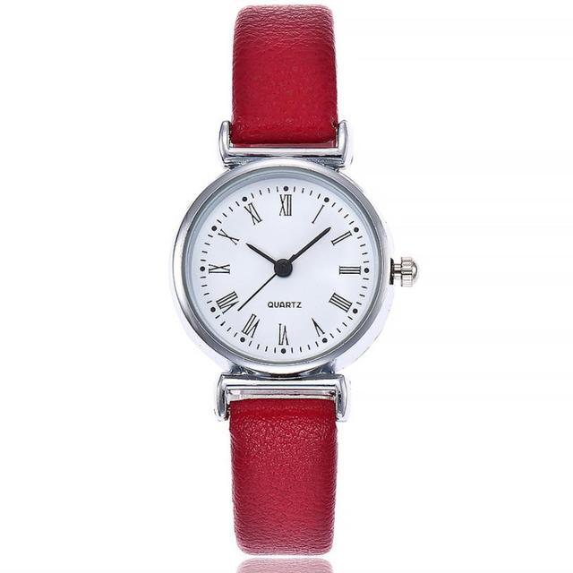 Exquisite Small Simple Women Watches Female Leather Quartz Wrist Watch Malloom B