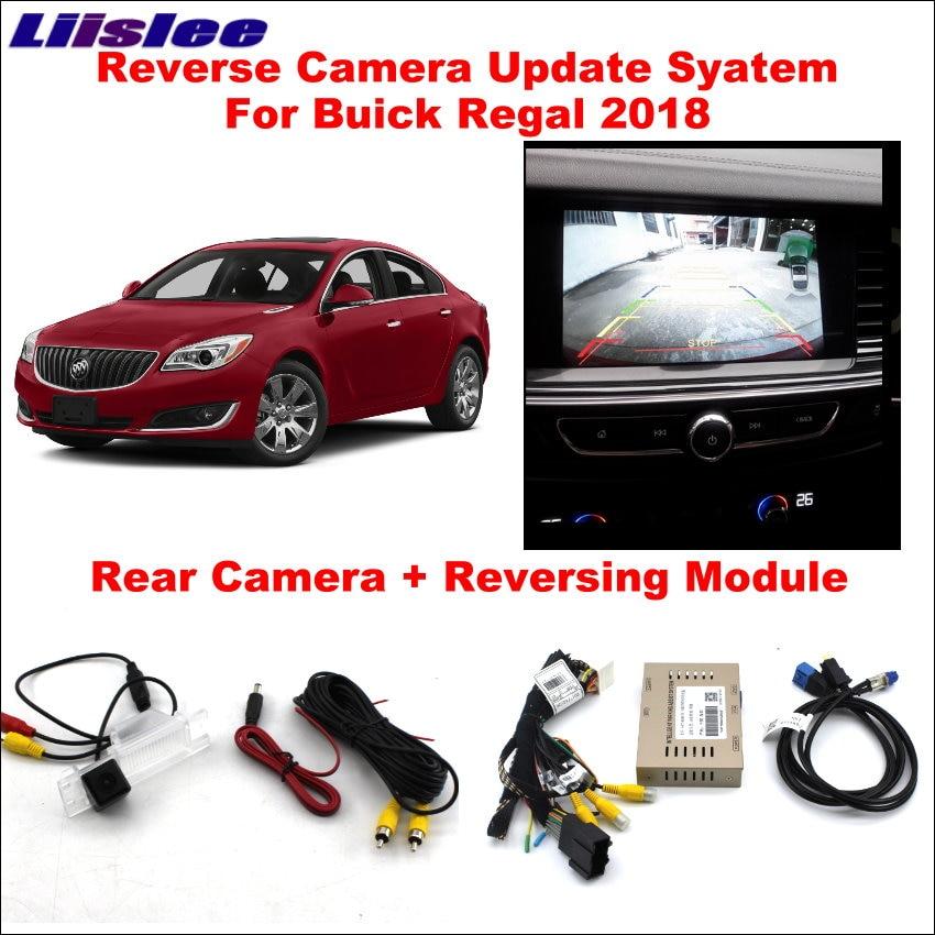 Liislee Reversing Track Image Module For Buick Regal 2018 Original Screen Update System Reverse Rear Camera Digital Decoder