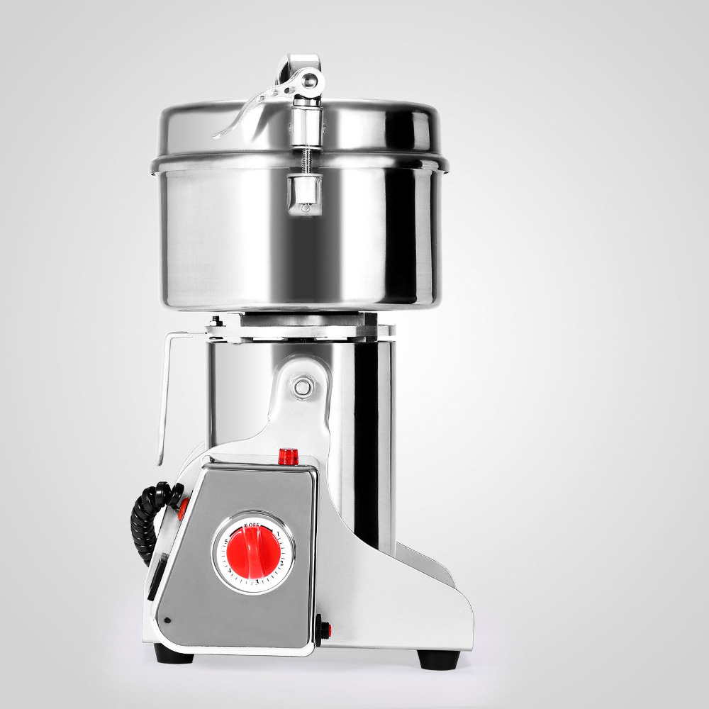 300~2000g Electric Herb Grain Mill Grinder 36000R/MIN Stainless Steel Coffee High-Speed Motor Suitable Dispensary Powder