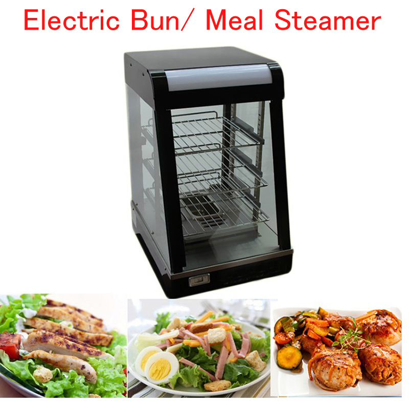 Commercial Food Warmer Electric Bun/ Meal Steamer Food Heating Container Stainless Steel Food Steaming Machine FY-604 fast food leisure fast food equipment stainless steel gas fryer 3l spanish churro maker machine