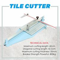 Multifunction 60CM Manual Desktops Ceramic Tile Cutter Home diy Tile Cutting Machine Tool Heavy Duty Angle Adjustable Hand Tools