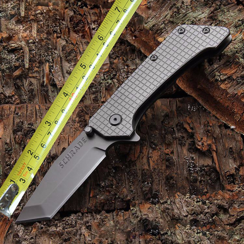 Camping Tactical Pocket Knife Two Edges Survival Knives Hunting Folding Knife Two Colors Outdoors EDC Tools Weight 302g high quality army survival knife high hardness wilderness knives essential self defense camping knife hunting outdoor tools edc