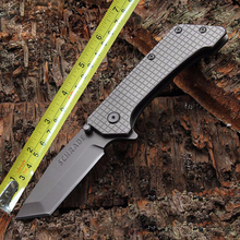 Camping Tactical Pocket Knife Two Edges Survival Knives Hunting Folding Knife Two Colors Outdoors EDC Tools Weight 302g