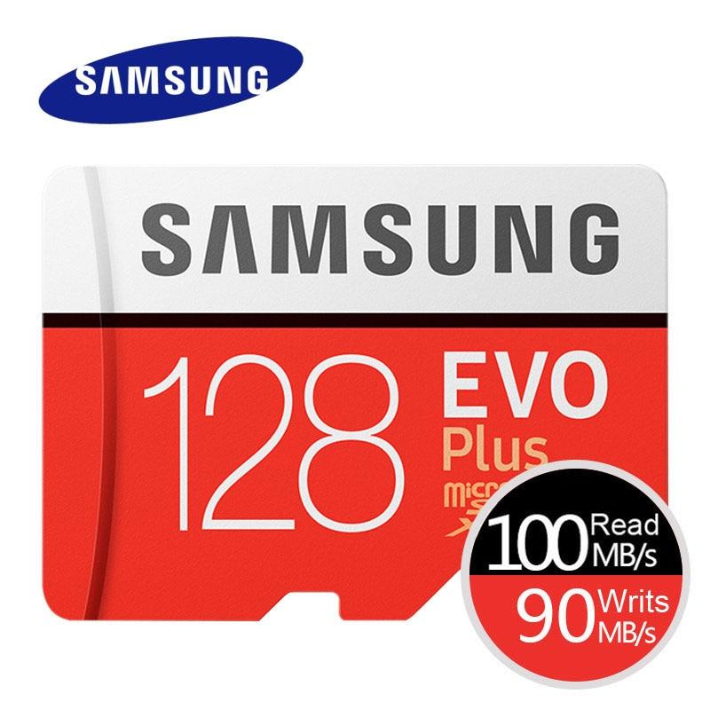 SAMSUNG EVO + EVO-Além de Cartão de Memória Micro SD de 256 GB 128G 64 GB GB 16 32 GB cartão MicroSD Class10 C10 UHS-I Trans Flash Cartão MicroSD