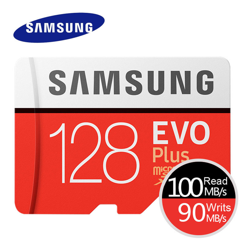 SAMSUNG Memory Card EVO+ EVO-Plus Micro SD 256GB 128G 64GB 32GB 16GB Class10 MicroSD Card C10 UHS-I Trans Flash MicroSD Card