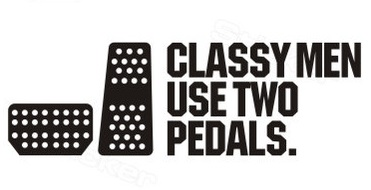 CLASSY MEN USE 2 PEDALS DIY Car sticker and decals cool modified accessories CF1136