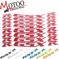 Motoo-לסוזוקי GSXR 1000 GSXR 750 GSXR750/1000 קלטת שפה רעיוני מדבקות אופנוע גלגל קדמי והאחורי מדבקות צמיג
