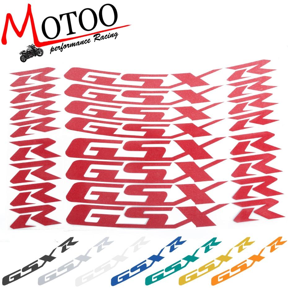 Aufkleber & Sticker Motoo-für Suzuki Gsxr 1000 Gsxr 750 Gsxr750/1000 Motorrad Vorne Und Hinten Rad Aufkleber Reflektierende Felgenband Reifen Decals