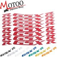 Motoo For SUZUKI GSXR 1000 GSXR 750 GSXR750/1000 Motorcycle Front & Rear Wheel Stickers Reflective Rim Tape Tire Decals