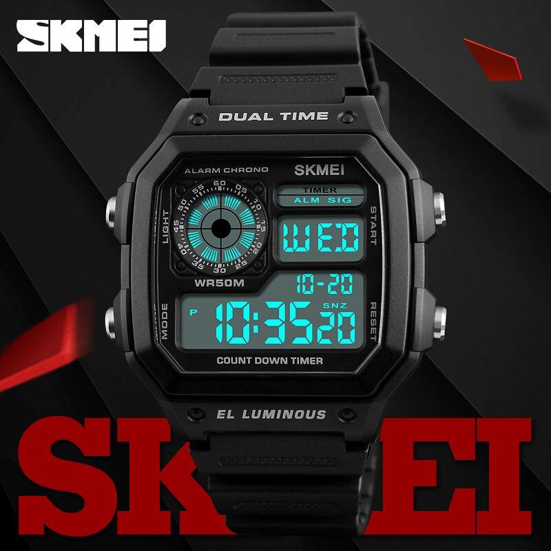 31819f054ba SKMEI Famoso Militar Do Exército Relógio Do Esporte Dos Homens Marca de  Topo de Luxo Eletrônico Digital LED Relógios de Pulso Masculino Relógio  Homens ...