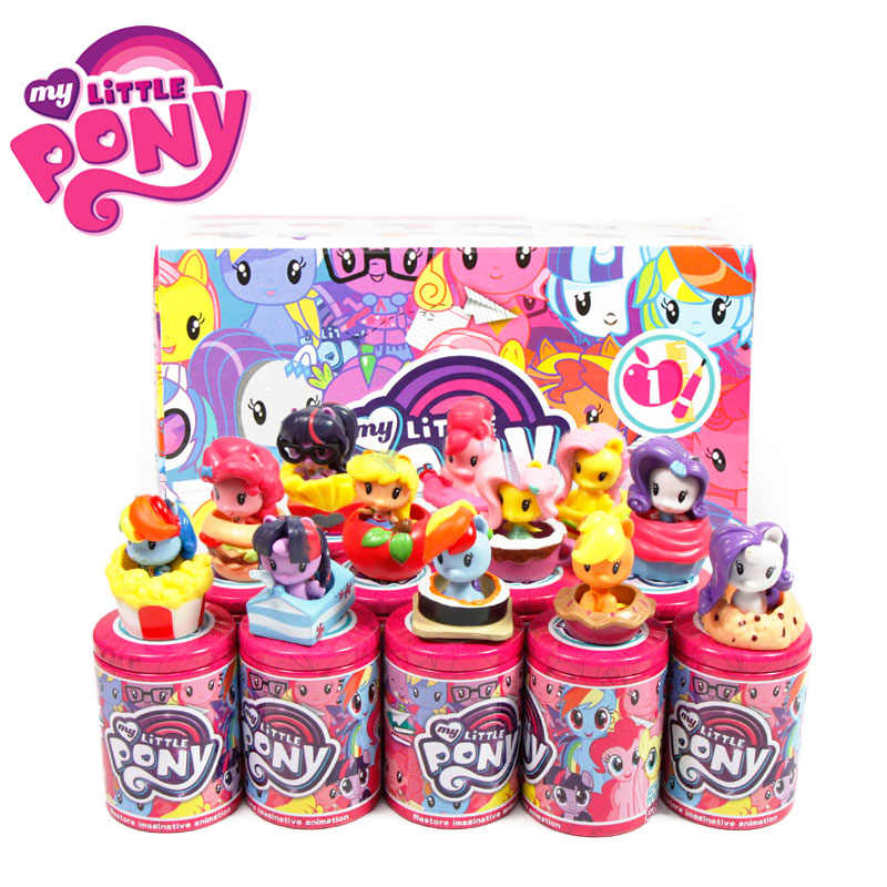12pcs My Little Pony Giocattoli Cutie Mark Crew Mini Bambola Pony Friendship is Magic Rainbow Dash Twilight Sparkle Figura regalo di natale