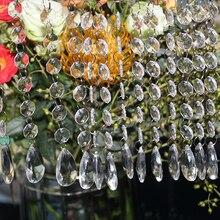 60 струн, 17,5 см, каплевидные акриловые хрустальные бусины, занавеска, люстра, гирлянда, подвеска, украшение для свадебной вечеринки, Рождественский Декор для дома