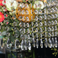 Diy 60PCS 17 5cm Acrylic Crystal Beads Garland Chandelier Wedding Party Decor Hang