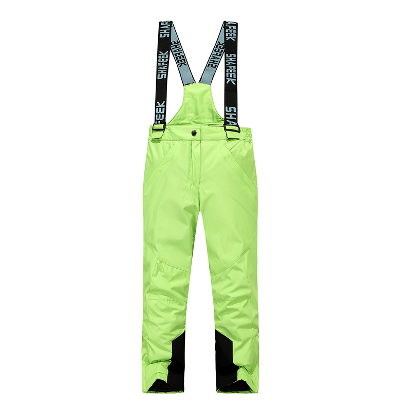 New Style Kids Boys Girls Skiing Pants High Quality Windproof Waterproof Ski Pants Children Warm Winter Snow Snowboard Trousers