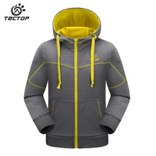 Tectop spring Children's recreational coat French terry hooded cardigan warm windproof Outdoor sports Camping & Hiking jacket