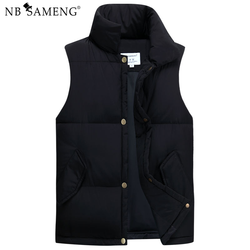 2017 New Winter Male Ultralight Cotton Jackets Vests Solid Thin Vest Lightweight Coats Brand Clothing Free Shipping