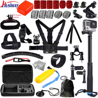 Husiway Voor alle gopro accessoires set kit mount voor Go pro hero3 Black Edition/gopro hero 6/5/4/3/2/xiaoyi mi 13E