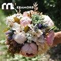 Multi Color 2016 Bosque de Boda Ramos de Novia de Flores Rosas Artificiales Celebración Accesorios Hechos A Mano Muy Recomendable