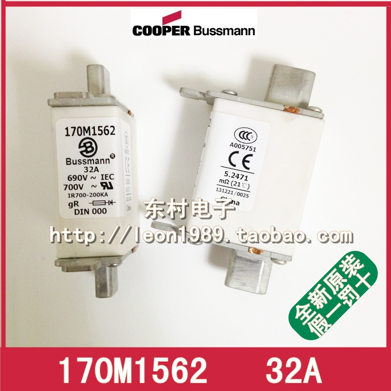цена на [SA]US Cooper Bussmann Fuses 170M1562 170M1562D 32A 690V fuse--3PCS/LOT