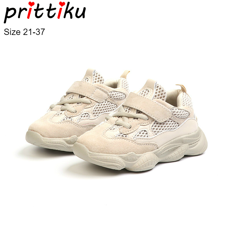 Autumn 2018 Toddler Boy Girl Fashion Sneakers Little Kid Genuine Leather Mesh Student School Trainers Big Children Casual Shoes soccer shoe toddler little kid big kid synthetic leather upper rubber soles 31 44casual outdoor indoor light weight running