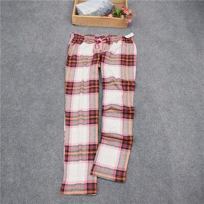 Женские брюки; длинные брюки; тканые хлопковые брюки для сна; женские брюки - Цвет: Orange red