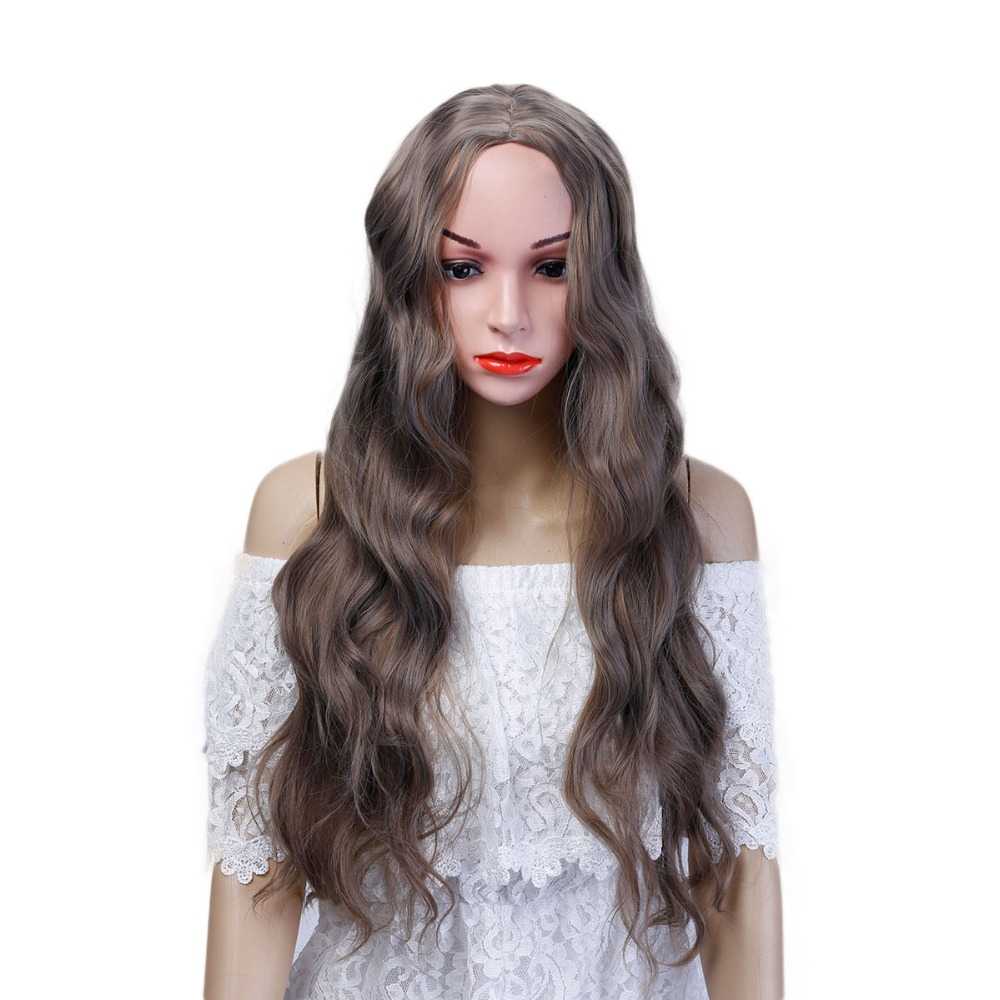 Long Wavy Synthetic Wigs For Women Heat Resistant Wig For African Americans Natural Women Hairstyle Rated AOSIWIG