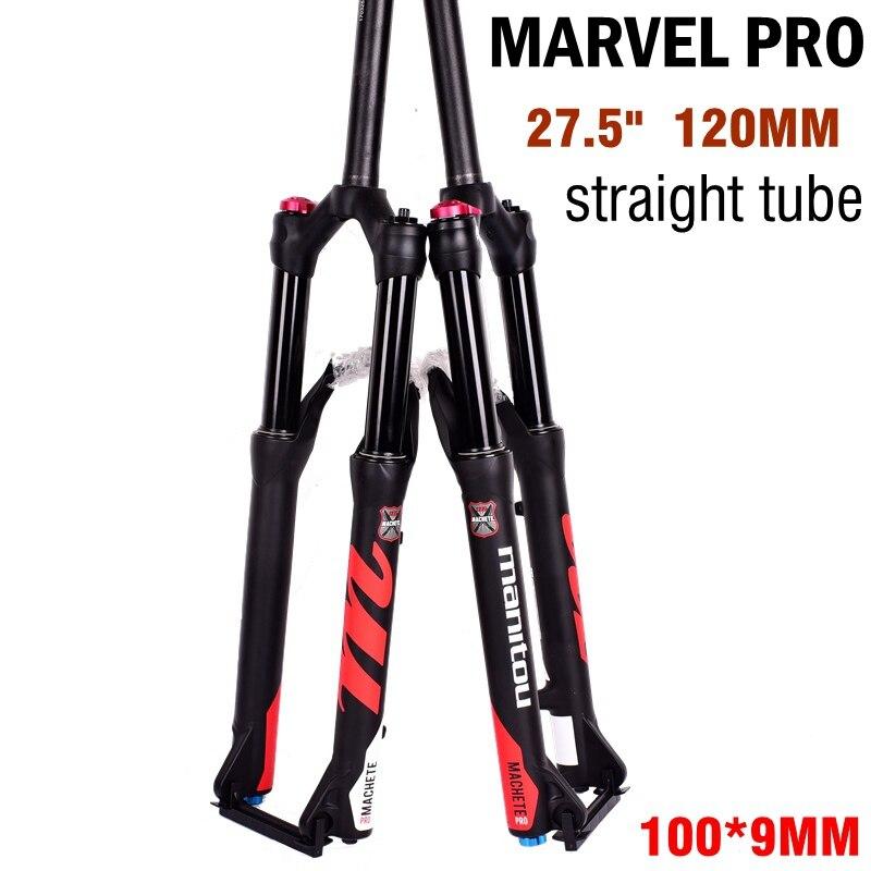 Manitou bicicleta tenedor MACHETE PRO horquilla delantera bicicleta de montaña amortiguador horquilla 27,5 29 pulgadas tubo recto 120 MM sobre comp REBA