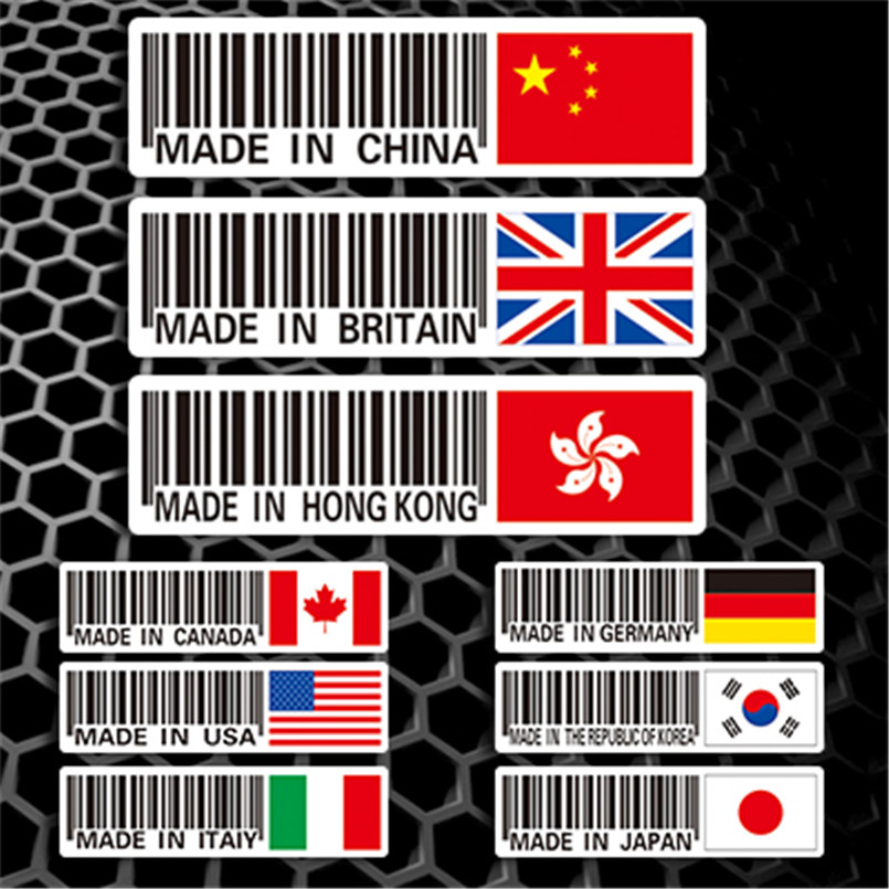 Made in Great Britain UK British Flag UPC Barcode Car Decal Sticker