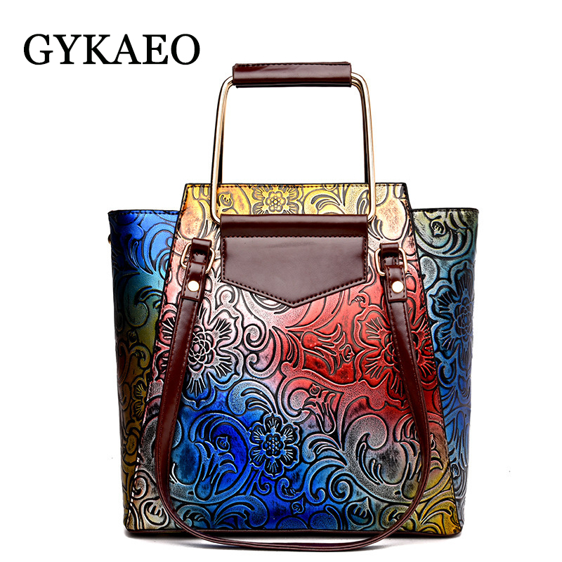 GYKAEO 2018 New Fashion Embossed Shoulder Bags Handbags Women Famous Brands PU Leather Messenger Bag Ladies Tote Bags Sac A Main 2017 new fashion female handbags famous brands sac women messenger bags women s pouch bolsas purse bag ladies leather portfolio