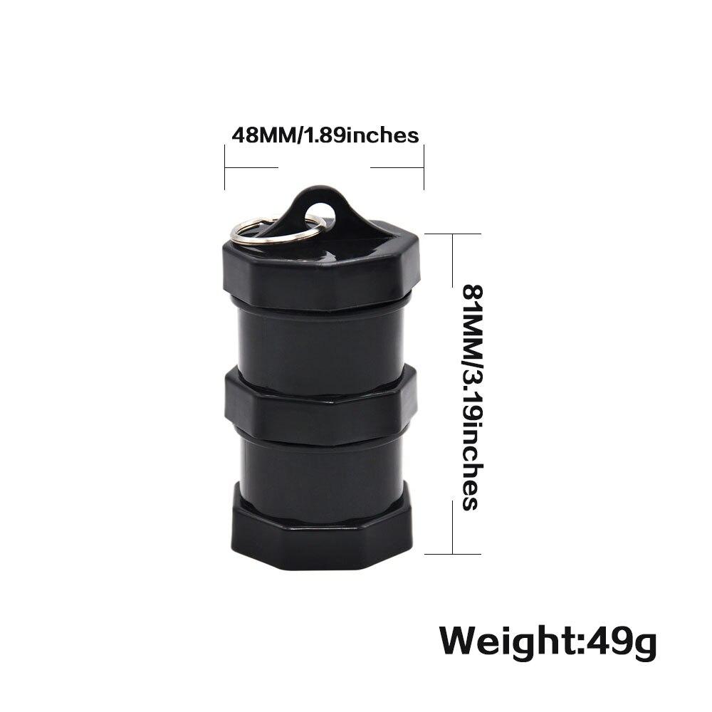 Image 2 - Герметичный диаметр 48 мм/1,89 дюйма контейнер для сигарет держатель черный акриловый контейнер для хранения портативный и разборный чехол для таблеток-in Аксессуары для сигарет from Дом и животные on AliExpress - 11.11_Double 11_Singles' Day