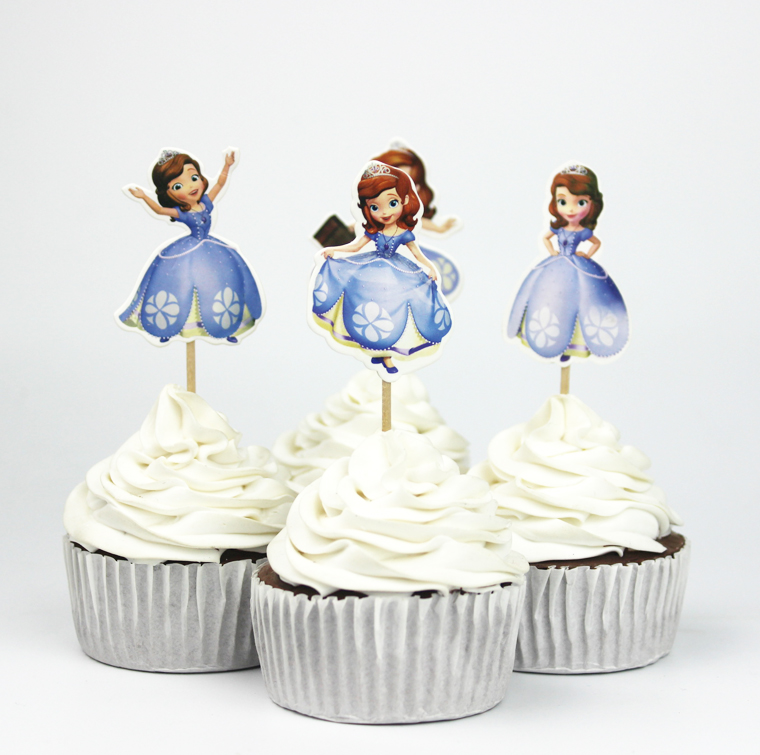 cartoon wedding cake toppers australia princess sofia cupcake toppers cake decorating supplies 12422