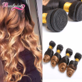 8A Peruvian Loose Wave Ombre Hair 4 Bundles Peruvian Virgin Hair Loose Curly Weave Ombre Human Hair Wet and Wavy Hair Extensions