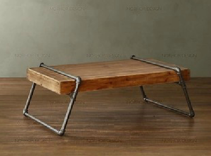 Bon American Village Loft Industrial Wrought Iron Coffee Table Wood Sofa A Few Steel  Pipe / Coffee