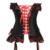 Bowknot tribunal lace-up overbust corselet body suit talladora mujeres sexy lencería erótica vestido Bustier top corsé corpiño ramillete