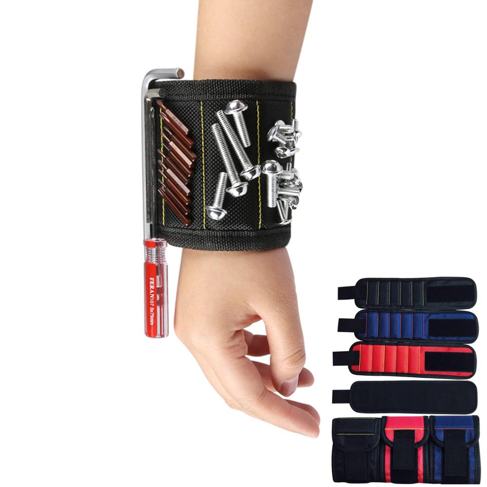 Super PDR Tools Magnetic Wristband Portable Tool Bag With 15Pcs Strong Magnets For Holding Screws Nails Drill Bits Hand Tool Bag