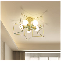 Simple personality Star Lighting E27 Creative Nordic Bedroom lamp LED Ceiling lamp Living room lamp Dining room lamp