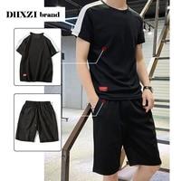 Summer short Mens Sets T Shirts Pants Two Piec Fashion Casual Suit Streetwear Tracksuit Male Brand Clothing 2019 Plus Size M 4XL