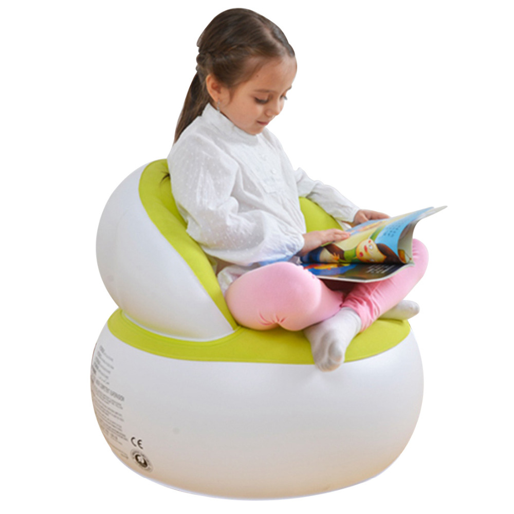 Kids Inflatable Chair Reading Relax Bean Bag Learn Seat