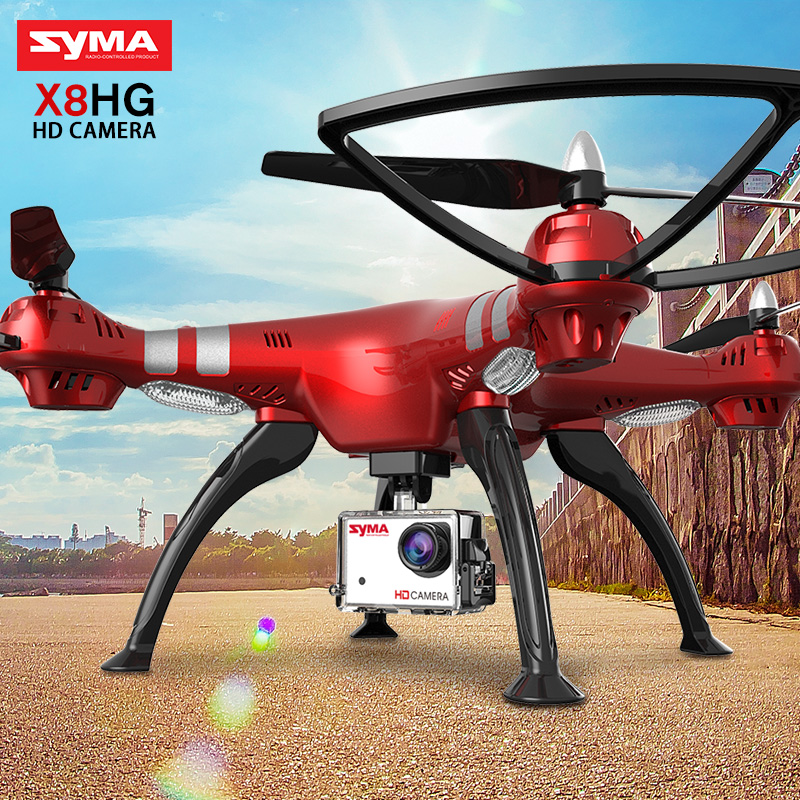 SYMA Official Professional X8HG (X8G Upgrade) 2.4G 4CH 6-Axis Gyroscope RC Helicopter Quadcopter Drone With HD 8 MP Camera Dron