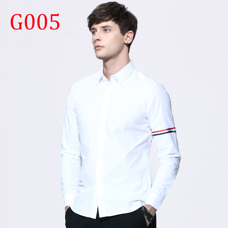 Y14 Frühling Herbst Eigenschaften Shirts Männer Freizeithemd Neuankömmling Langarm Casual Slim Fit G005