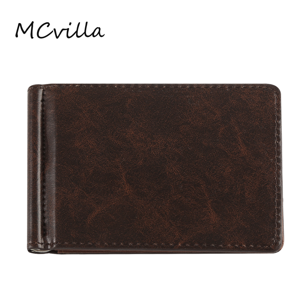 Fashion Casual Small Coin Pocket Wallet PU Leather Men Wallets Credit Card Holder Short Purse Male Wallet
