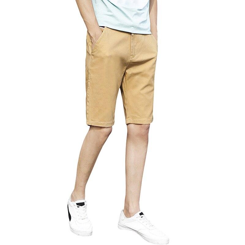 Summer Shorts Men Brand Male Casual Khaki Men Shorts Slim Fitness Plus Size Beach Cotton Short Pants Bermuda Female 2018