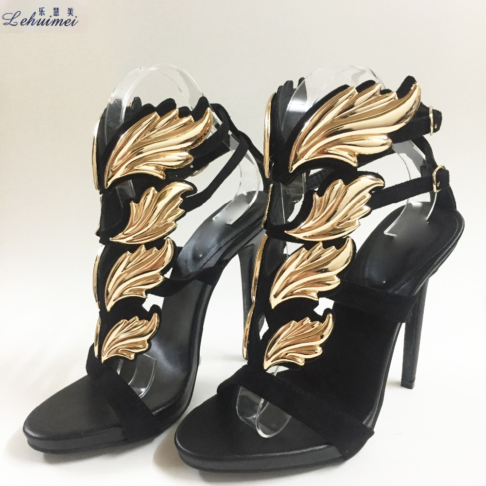 New Arrival Hot sell women high heel sandals Black leaf flame gladiator sandal shoes party dress shoe woman patent leather shine new arrival turbowing 5 8ghz 3dbi 3 leaf
