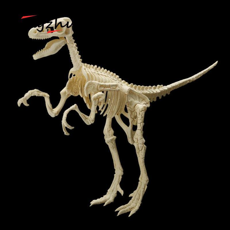 1 unid DIY 4D Mammoth Tyrannosaurus rex dinosaurio fósil esqueleto ...