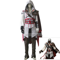Assassins Creed Costume Men Halloween Masquerade Costumes Ezio Cosplay Full Set Customized Size