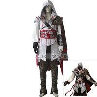 Los hombres de La Mascarada de Halloween Disfraces Assassins Creed Ezio Traje de Cosplay Conjunto Completo Personalizado