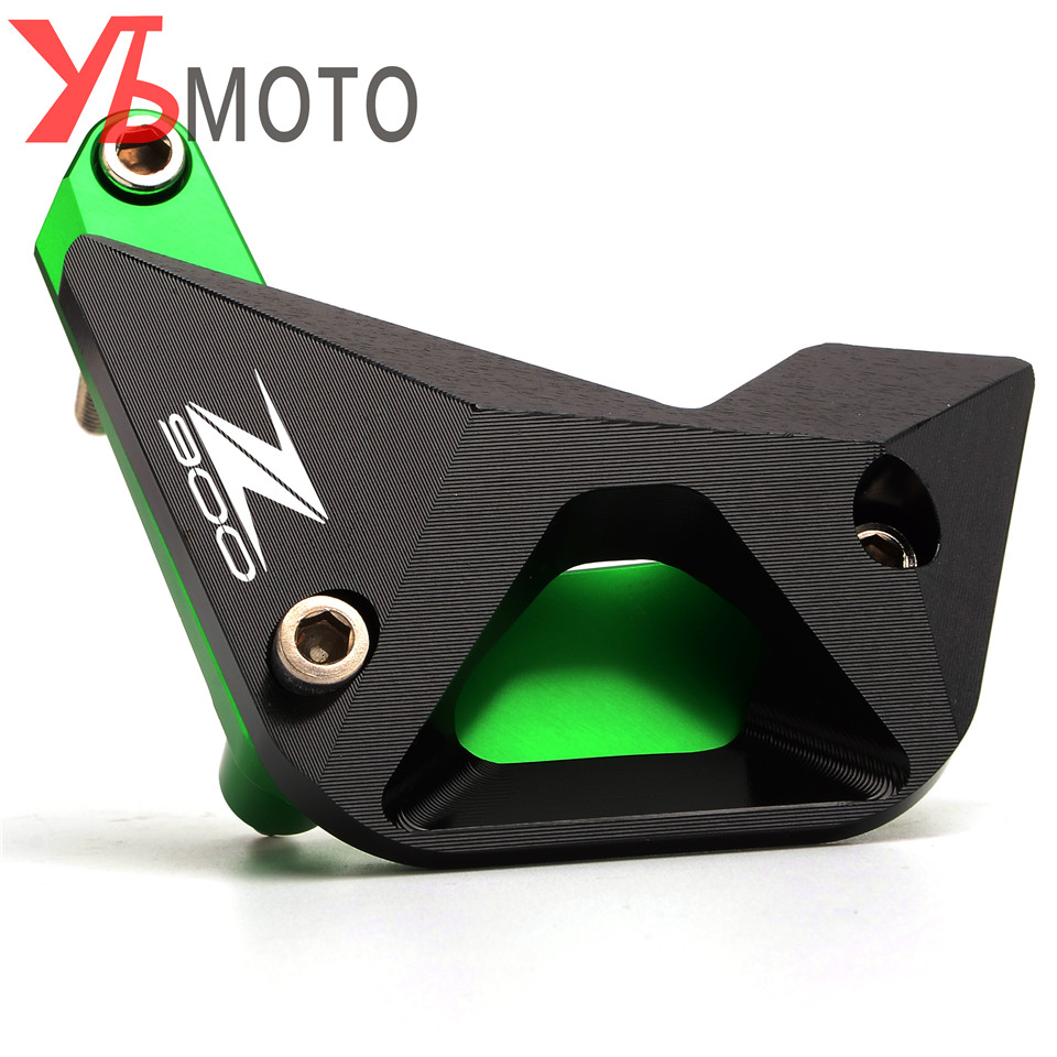Motorcycle Engine Guard CNC Aluminum Engine Slider Protector for Kawasaki Z900 2017 Z 900 Green Accessories