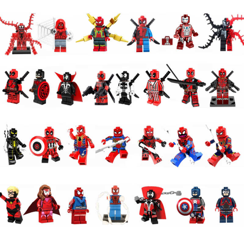 Legoing Deadpool Building Blocks Toys Super Heroes SpiderMan Thanos Thor Avenger Movie Figures Compatible